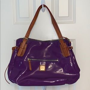 DOONEY & BOURKE purple purse with leather accents